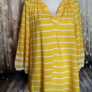 Crown & Ivy Sunshine Yellow Tunic